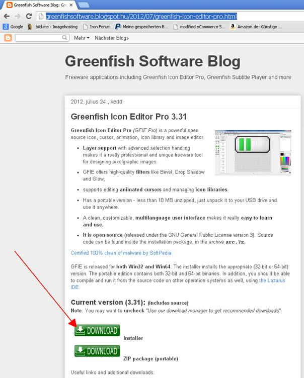 greenfish icon editor pro anleitung